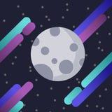 Måneillustration vektor illustrationer