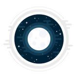 Måneillustration Arkivfoton