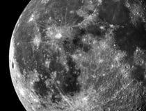 Månekrater och detaljer observera royaltyfria foton