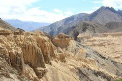 Måneland i Ladakh Royaltyfria Foton