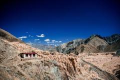 Månelandberg, Ladakh, Indien Royaltyfri Fotografi