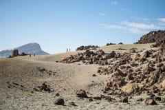 Månelandskap i bergen arkivfoton