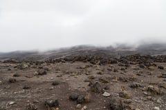 Månelandskap på Mt kilimanjaro Royaltyfri Foto