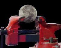 Måneprojekt i last royaltyfria bilder