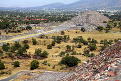 Månepyramid II som är teotihuacan Royaltyfria Bilder