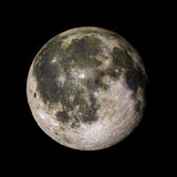 Månesolsystemplanet på svart tolkning för bakgrund 3d Arkivbild