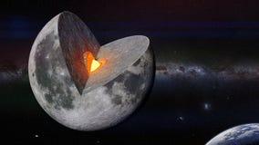 Månestruktur framme av planetjord och Vintergatangalaxen vektor illustrationer