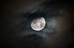 Måneyttersida med detaljer Arkivfoton