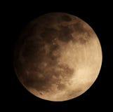 Månförmörkelse för en bakgrund 25.04.13. Royaltyfri Bild