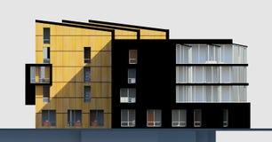 mång--berättelse 3D husfasad Arkivfoton