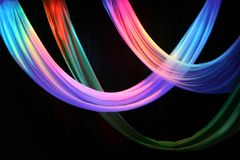 mång- etapp för färgade gardiner Arkivbilder