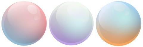 Mång- färg för såpbubblor Arkivfoton