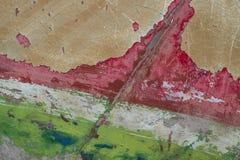 Mång--färgad botten av en gammal fiskebåt Arkivbild