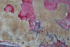 Mång--färgad botten av en gammal fiskebåt Arkivbilder