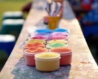 Mång--färgad dekorativ sand royaltyfria foton