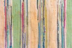 Mång--färgad hand-gjord matta från tyg arkivfoton