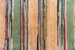 Mång--färgad hand-gjord matta från tyg arkivbild
