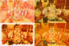 Mång--färgad kaotisk panel Arkivbild