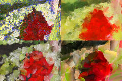 Mång--färgad kaotisk panel Royaltyfria Foton