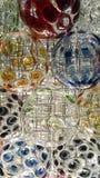 Mång--färgad kristallkulagarnering arkivfoto
