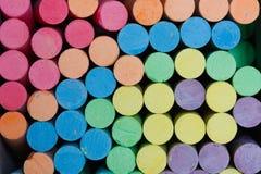 Mång--färgad krita. Arkivbilder