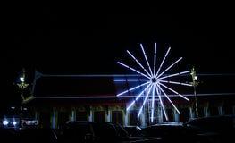 Mång--färgad ljuscirkel Arkivfoton