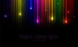 Mång--färgad regnbågebakgrund med den fallande stjärnan Royaltyfri Bild