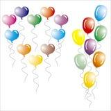 Mång--färgade ballonger. royaltyfria foton