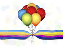 Mång--färgade ballonger stock illustrationer