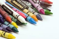 mång- färgade crayons Royaltyfri Fotografi