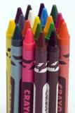 mång- färgade crayons Arkivfoton