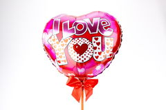 Mång--färgade hjärtaballonger Royaltyfria Bilder