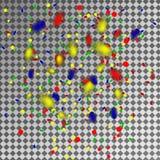 Mång--färgade konfettier och banderoller på en genomskinlig bakgrund Royaltyfri Bild