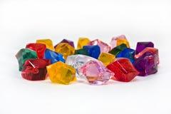 mång- färgade kristaller Arkivbilder