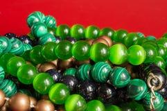 Mång--färgade pärlor Royaltyfria Bilder