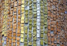Mång--färgade segment beståndsdel av den gamla mosaiken arkivfoton