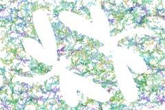Mång--färgade sländor på en vit bakgrund royaltyfri foto