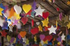 Mång--färgade stearinljus Royaltyfria Bilder