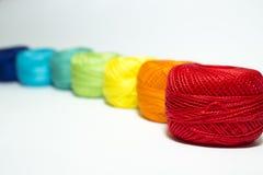 Mång--färgat garn Arkivfoto