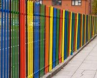 Mång--färgat staket Royaltyfri Foto