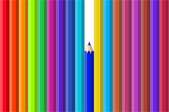 Mång- färgblyertspennor Arkivbild