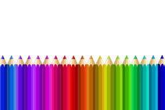 Mång- färgblyertspennor Royaltyfri Bild