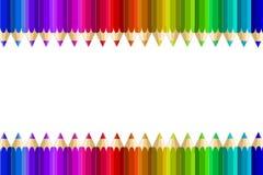 Mång- färgblyertspennor Royaltyfri Fotografi