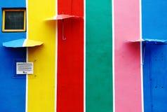 Mång--färger vägg i Shah Alam gatakonst, Malaysia Arkivbild