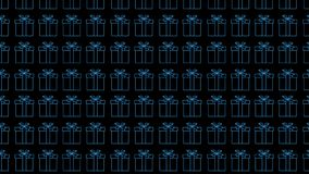 mång- färggåvaaskar på den svarta bakgrunden festlig bakgrund nytt år för bakgrund footage vektor illustrationer