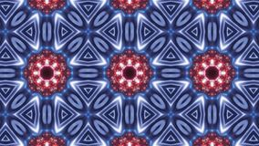 Mång- färgkalejdoskopmodell abstrakt mandala med blått rött och att glöda vektor illustrationer