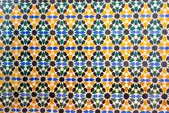 Mång- färgtegelplattor i Alhambra Arkivbild