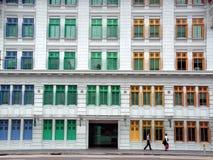 mång- fönster för färg Arkivbild
