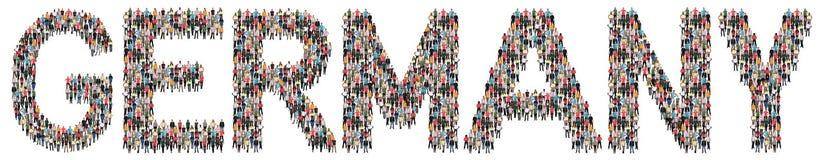 Mång- folkgrupp för Tyskland av folk arkivbild