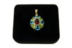 mång- hänge för kulör gemstone Royaltyfri Fotografi
